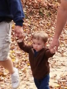 Greyson hiking