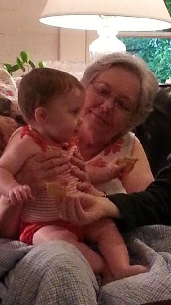 Kambrie with her GREAT Great Aunt Patricia